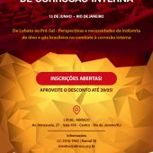 Inscrições abertas para o II Seminário Brasileiro de Corrosão Interna em Dutos e Equipamentos